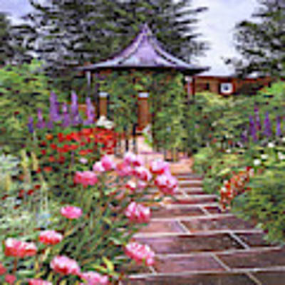 The Garden Arbor Art Print by David Lloyd Glover