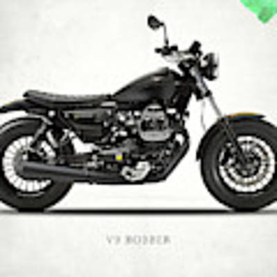 The V9 Bobber Art Print by Mark Rogan
