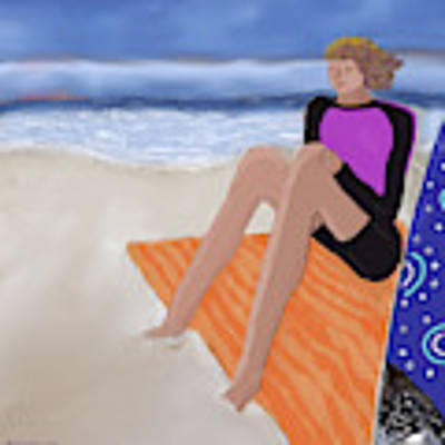 Toes In The Sand Art Print by Teresa Epps