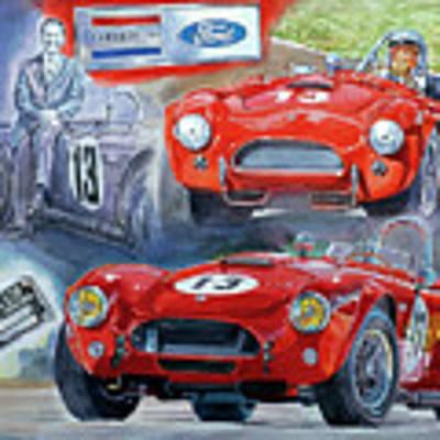 Tom Payne's No 13  289 Cobra Competition Art Print by David Lloyd Glover