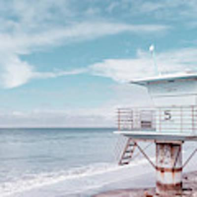 Torrey Pines Beach Lightguard Station Number 5 Art Print by Wendy Fielding