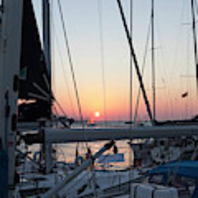 Trieste Sunset Art Print by Helga Novelli