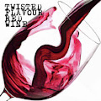 Twisted Flavour Red Wine Art Print by ISAW Company