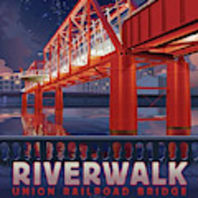 Union Railroad Bridge - Riverwalk Art Print by Clint Hansen