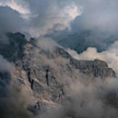 Very Cloudy Morning In Dolomites Art Print by Jaroslaw Blaminsky