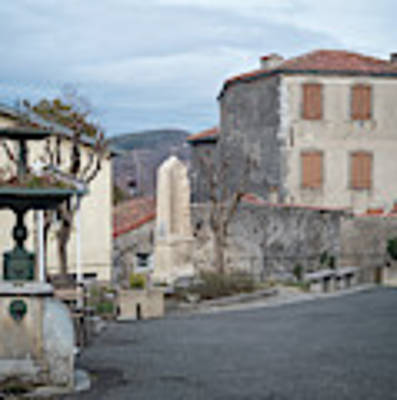 Village Square, South France Art Print by Perry Rodriguez