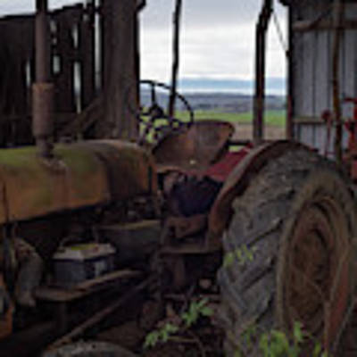 Vintage Tractor, South France Art Print by Perry Rodriguez