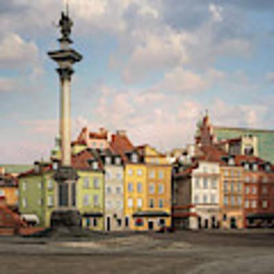 Warsaw On A Sunny Morning Art Print by Jaroslaw Blaminsky