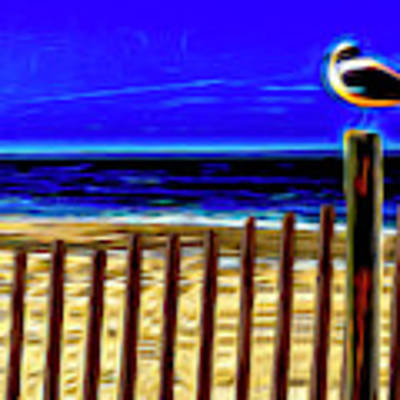 Watchin' The Tide Roll, Away Art Print by Paul Wear