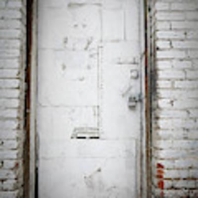 White Steel Factory Door Chinatown Washington Dc Art Print by Edward Fielding