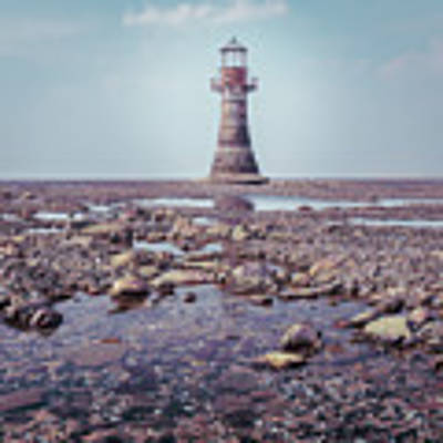 Whiteford Point Lighthouse Art Print by Elliott Coleman