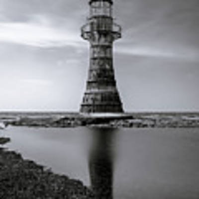 Whiteford Point Lighthouse Reflections Art Print by Elliott Coleman