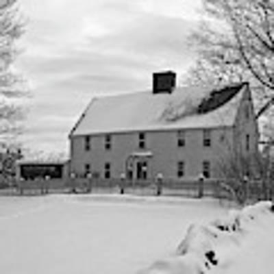 Winter At Noyes House Art Print by Wayne Marshall Chase