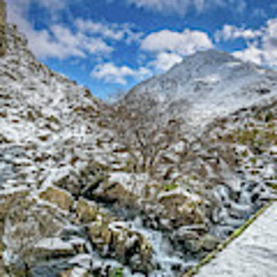 Winter Wonderland Snowdonia Art Print by Adrian Evans
