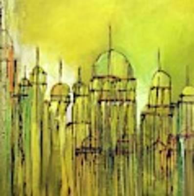 Yellow Mosque  Art Print by Nizar MacNojia
