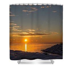 Shower Curtain featuring the photograph -15 Degrees Sunrise by Georgia Mizuleva