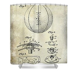 1927 Basketball Patent Drawing Shower Curtain