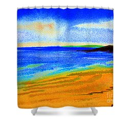 2 Australian Beach In The Morning Near Cottesloe Shower Curtain