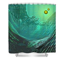577 -  Ocean World Crystal Green.. Shower Curtain by Irmgard Schoendorf Welch