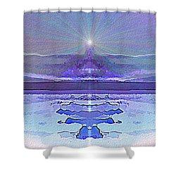 934 - Magic Light Beacon 2017 Shower Curtain by Irmgard Schoendorf Welch