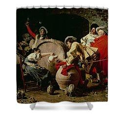 A Good Vintage Shower Curtain by Francesco  Vinea