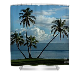 Shower Curtain featuring the photograph  A Little Bit Of Paradise by Vivian Christopher