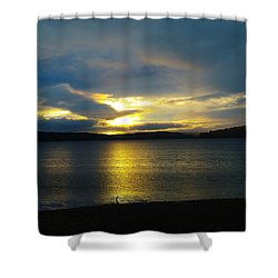 A Slow Sun Rise  Shower Curtain by Jeff Swan