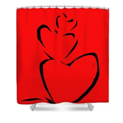 A Stack Of Hearts Shower Curtain