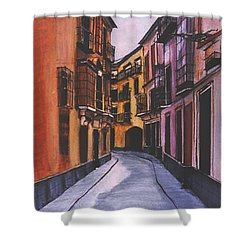 A Street In Seville Spain Shower Curtain
