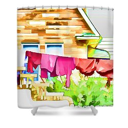 A Summer's Day - Digital Art Shower Curtain by Robyn King