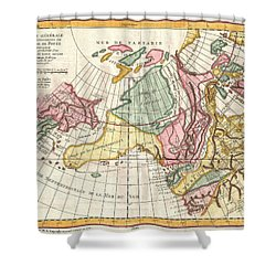 A Truly Fascinating 1772 Map Of The Northwestern Parts Of North America By Robert De Vaugondy And T Shower Curtain