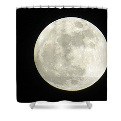 A Winter'sfullmoon Over Ga Shower Curtain