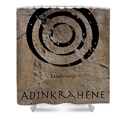 Adinkra Adinkrahene Shower Curtain by Kandy Hurley