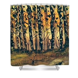 American Sycamore Trees Shower Curtain