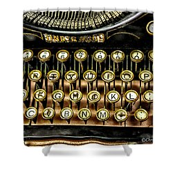 Antique Keyboard Shower Curtain by Christopher Holmes