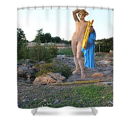 Apollo Circular Sacred Building Shower Curtain by Augusta Stylianou