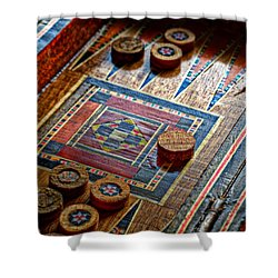 Backgammon Shower Curtain by Beverly Cash