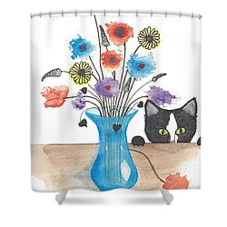 Bad Kitty Shower Curtain