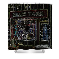 Baltimore Storefront Impression Shower Curtain