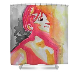 Barbra Streisand Shower Curtain by Chrisann Ellis