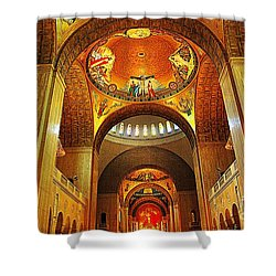 Shower Curtain featuring the photograph  Basilica Of The National Shrine Of The Immaculate Conception by John S
