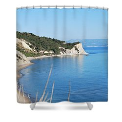 Shower Curtain featuring the photograph  Beach by George Katechis