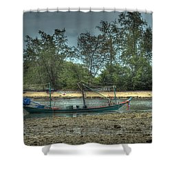 Shower Curtain featuring the photograph  Before Storm by Michelle Meenawong