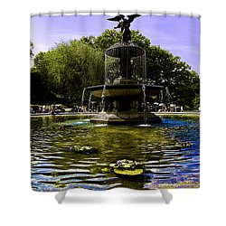 Bethesda Fountain - Central Park  Shower Curtain by Madeline Ellis