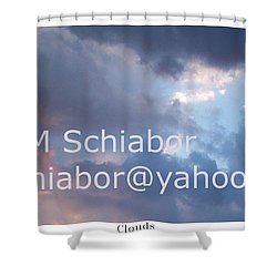 Blue And Purple Parting Clouds Print Shower Curtain by Eric  Schiabor
