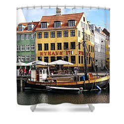 Boat In Nyhavn Shower Curtain