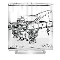 Bosendorfer Centennial Grand Piano Shower Curtain by Ira Shander