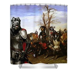 Cane Corso Art Canvas Print - Swords And Bravery Shower Curtain