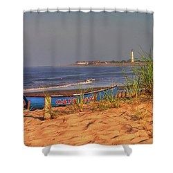 Cape May Beach Shower Curtain