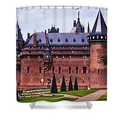 De Haar Castle 4. Utrecht. Netherlands Shower Curtain by Jenny Rainbow